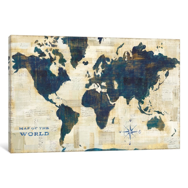 iCanvas 'World Map Collage' by Sue Schlabach Canvas Print