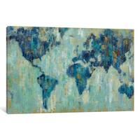 iCanvas 'Map Of The World' by Silvia Vassileva Canvas Print