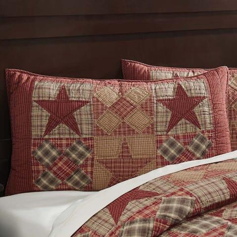 Tan Rustic Bedding VHC Dawson Star Sham Cotton Star