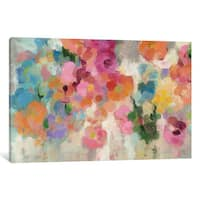 iCanvas 'Colorful Garden I' by Silvia Vassileva Canvas Print