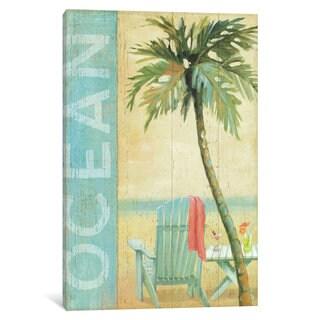 iCanvas Ocean Beach II by Daphne Brissonnet Canvas Print