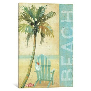 iCanvas 'Ocean Beach I' by Daphne Brissonnet Canvas Print