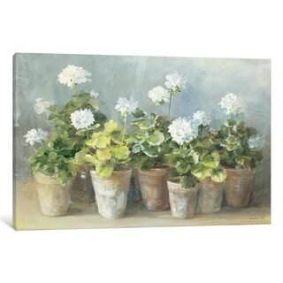 iCanvas White Geraniums by Danhui Nai Canvas Print