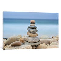iCanvas 'Stonewall Beach Cairn' by Katherine Gendreau Canvas Print