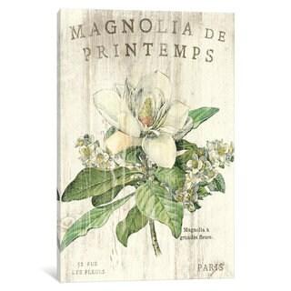iCanvas Magnolia de Printemps  by Sue Schlabach Canvas Print