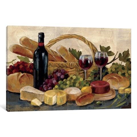 iCanvas 'Tuscan Evening Wine ' by Silvia Vassileva Canvas Print