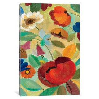 iCanvas 'Summer Floral Panel II ' by Silvia Vassileva Canvas Print