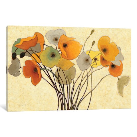 iCanvas 'Pumpkin Poppies I' by Shirley Novak Canvas Print