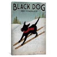 iCanvas 'Black Dog Ski Co. I' by Ryan Fowler Canvas Print