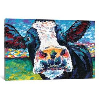 iCanvas 'Curious Cow II' by Carolee Vitaletti Canvas Print