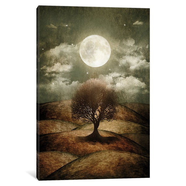 iCanvas 'Once Upon A Time... The Lone Tree' by Viviana Gonzalez Canvas Print