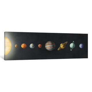 iCanvas 'The Solar System Black' by Terry Fan Canvas Print