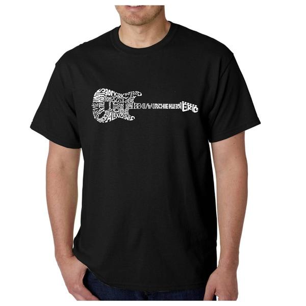 Los Angeles Pop Art Mens T-Shirt - Rock Guitar