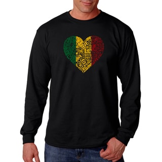 Los Angeles Pop Art Men's Long Sleeve T-shirt - One Love Heart