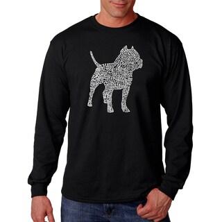 Los Angeles Pop Art Men's Long Sleeve T-shirt - Pitbull