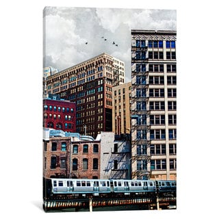 iCanvas Rooftop VII by Tim Jarosz Canvas Print