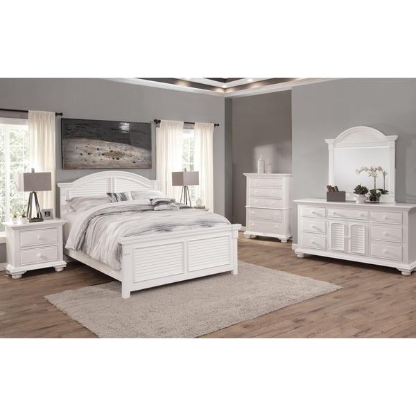 Beachcrest Eggshell White 5-piece Bedroom Set by Greyson Living