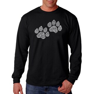 Los Angeles Pop Art Men's Long Sleeve T-shirt - Woof Paw Prints