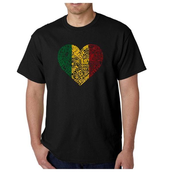 Los Angeles Pop Art Mens T-Shirt - One Love Heart