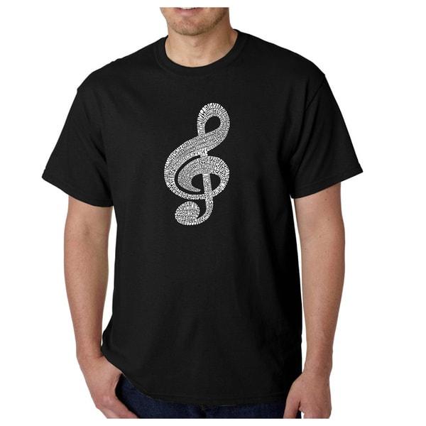 Los Angeles Pop Art Mens T-Shirt - Music Note