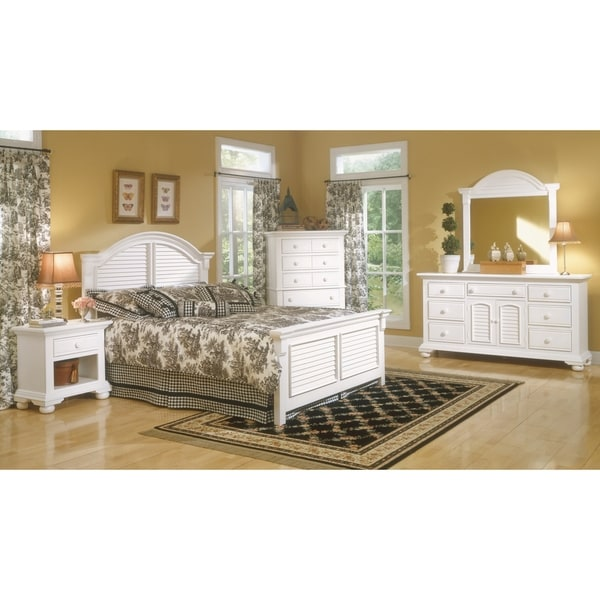 Shop Beachcrest Eggshell White Wood Bedroom Set By Greyson
