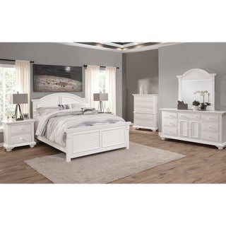 Beachcrest Eggshell White Wood Bedroom Set by Greyson Living