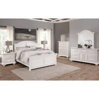 Beachcrest Eggshell White Wood Bedroom Set by Greyson Living
