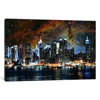 iCanvas New York Nebula Skyline by iCanvas Canvas Print