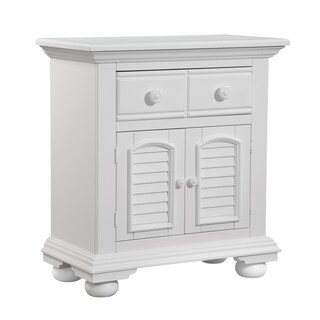 Beachcrest Eggshell White Wood 1-drawer Cabinet Nightstand by Greyson Living