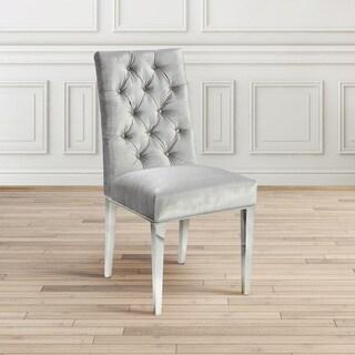 Tufted Velvet Upholstered Metal Parsons Dining Room Chair Set