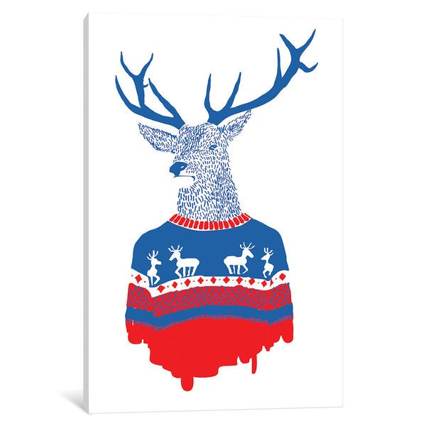 iCanvas 'Ugly Winter Pullover' by Robert Farkas Canvas Print