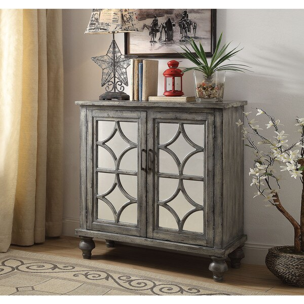 Superieur Acme Furniture Velika Weathered Grey 2 Door Console Table