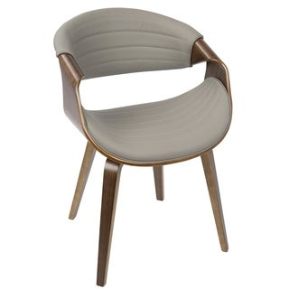 LumiSource Symphony PU Leather and Wood Dining Chair