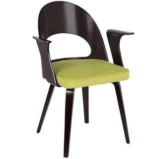 LumiSource Verino Espresso and Velvet Mid-Century Modern Dining Chair