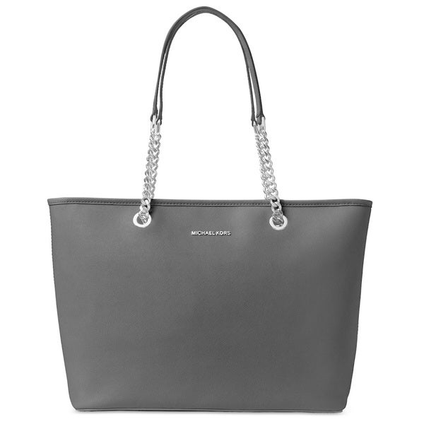 f357e9fafb3 Shop MICHAEL Michael Kors Jet Set Travel Chain Saffiano Leather Tote Black  - Free Shipping Today - Overstock - 15436611