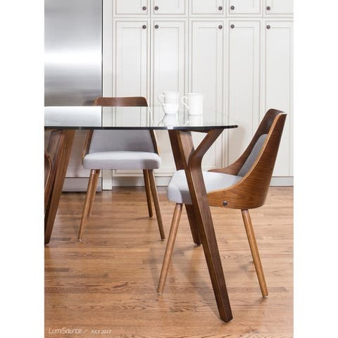 Carson Carrington Vallemala Walnut and Fabric Dining Chair - N/A