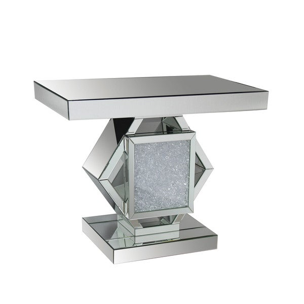 Shop Acme Furniture Nowles Mirrored Console Table