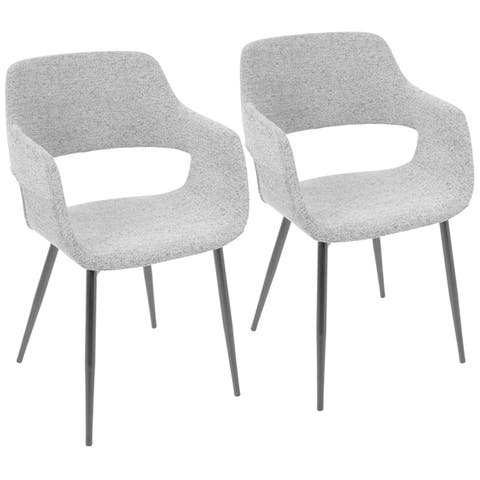 LumiSource Margarite Mid-Century Modern Chair (Set of 2)