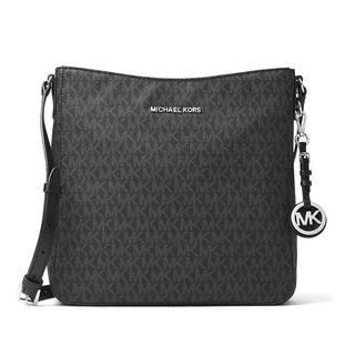 Michael Kors Jet Set Travel Black Large Logo Crossbody Handbag