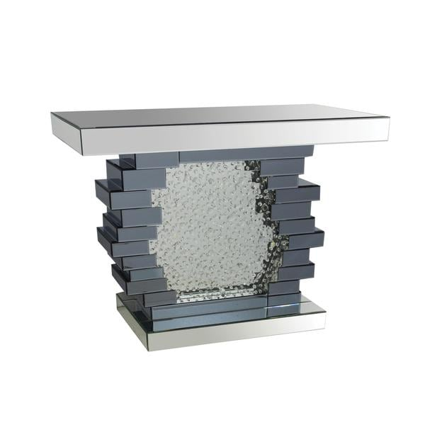 Acme Furniture Nubia Mirrored Console Table