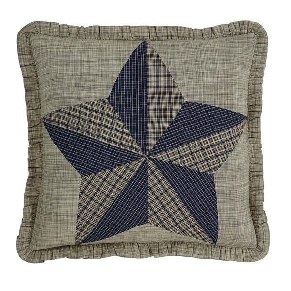 Tan Primitive Bedding VHC Vincent Pillow Cover Cotton Patchwork Textured