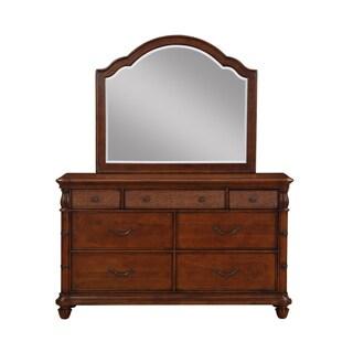 Isle of Palms Light Mahogany 7-Drawer Dresser and Optional Mirror by Panama Jack
