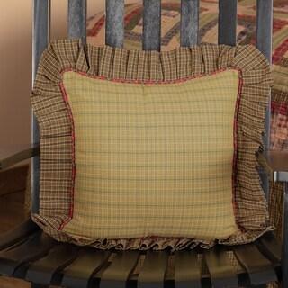 Tea Cabin Fabric Ruffled FilledThrow Pillow 16x16