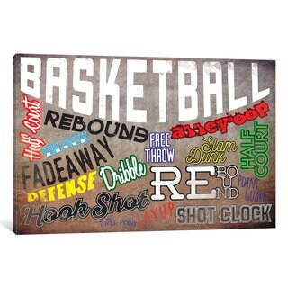 iCanvas 'Basketball Slang' by 5by5collective Canvas Print