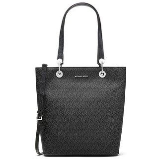 Michael Kors Raven Large Black North South Top Zip Tote Bag