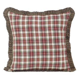 Red Rustic Bedding VHC Tacoma 16x16 Pillow Cotton Plaid (Pillow Cover, Pillow Insert)