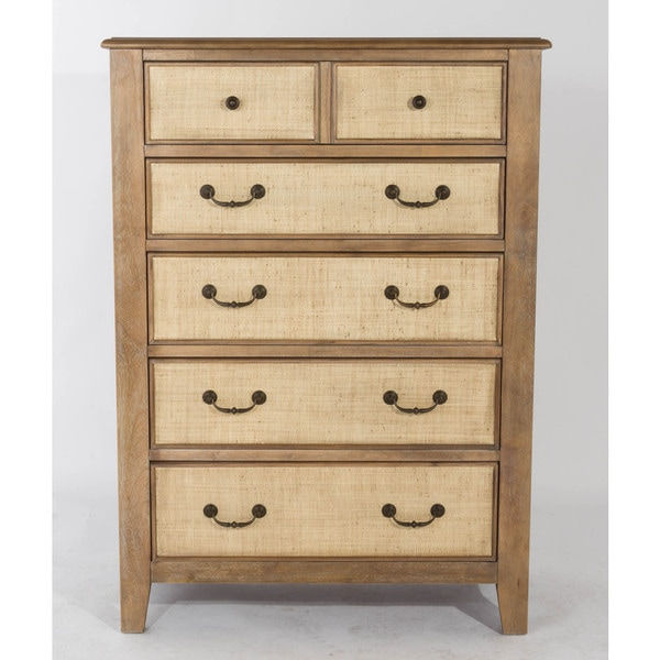 Shop Linen 5 Drawer Chest By Panama Jack Free Shipping