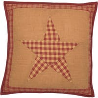 Ninepatch Star Quilted FilledThrow Pillow 16x16