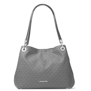 Michael Kors Raven Signature Large Black Shoulder Tote Bag