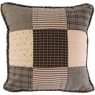 Black Primitive Bedding VHC Kettle Grove 16x16 Pillow Cotton Patchwork (Pillow Cover, Pillow Insert)
